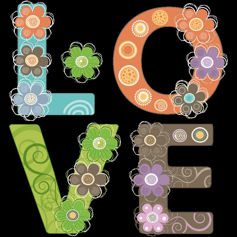 Love word floral design
