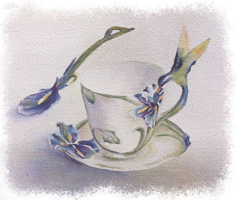HUMMING BIRD TEACUP