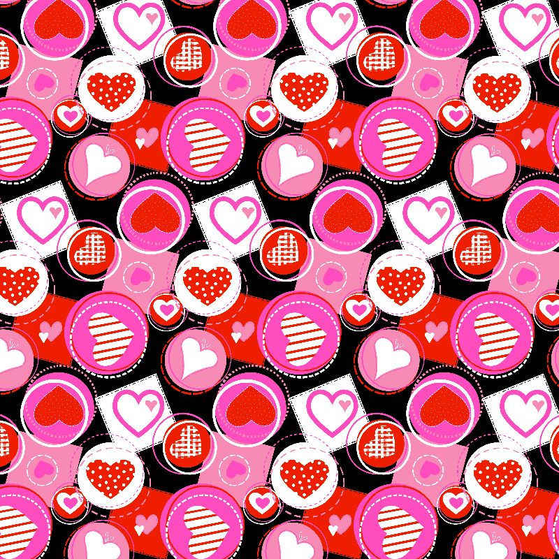 Crazy Pink Hearts