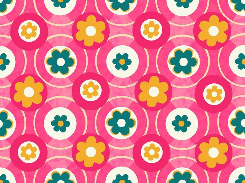 Pink and Cream Circles