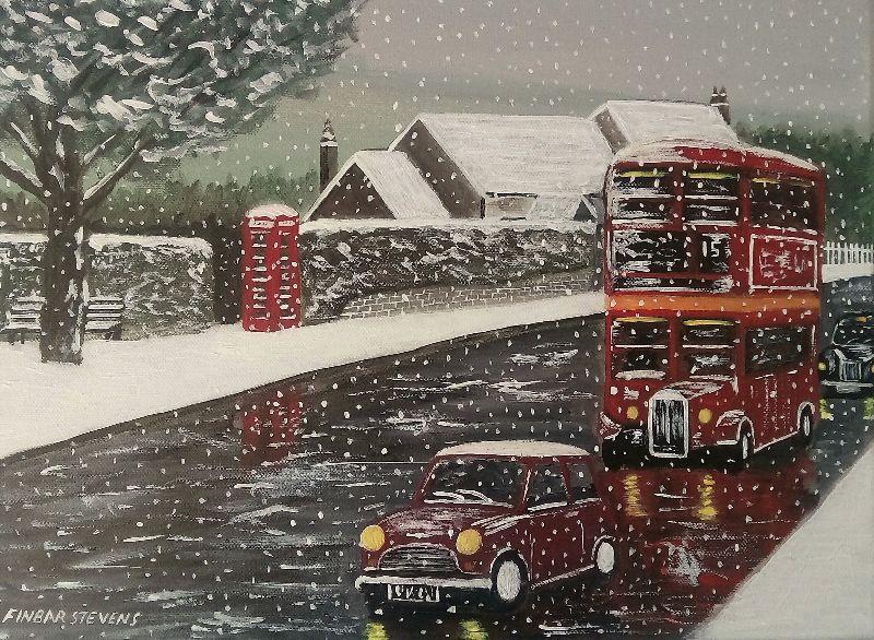 Through the Village Snow