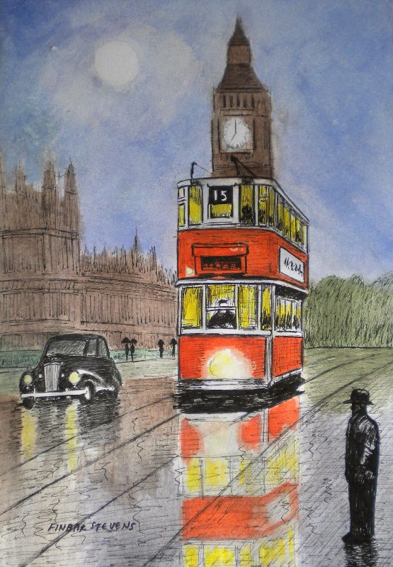 Tram over Westminster