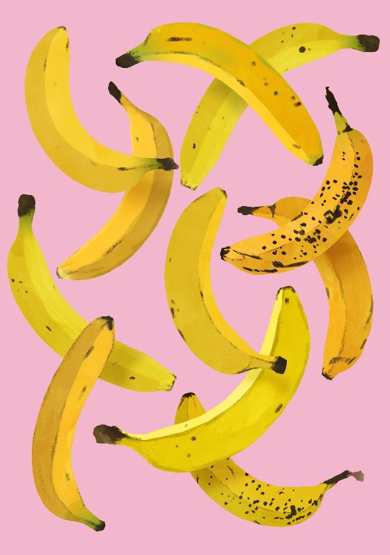 Bananas on Pink