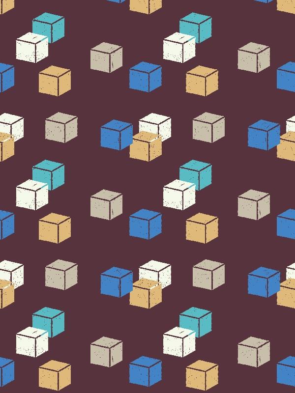 Cubes Purple