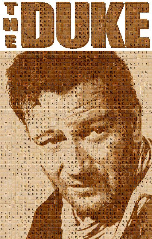 Scrabble John Wayne
