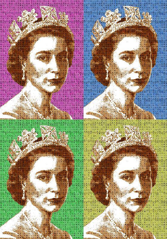 Scrabble Queen x 4