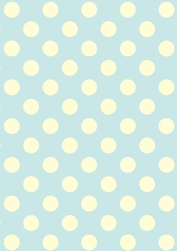 Duck Egg Polka Dots