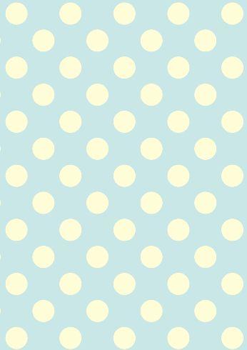 Duck Egg Polka Dots