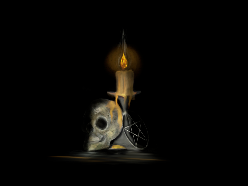Skull by Candlelight