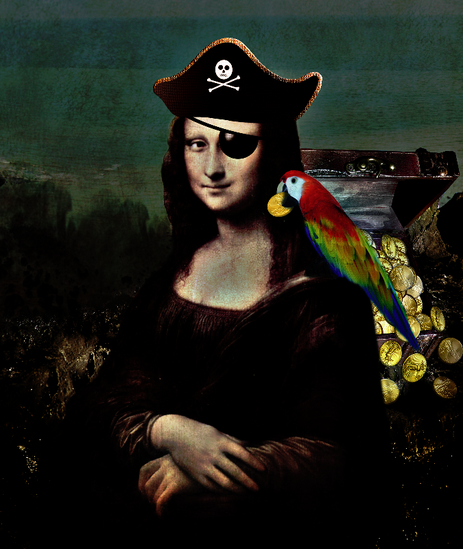 Pirate Captain Mona Lisa