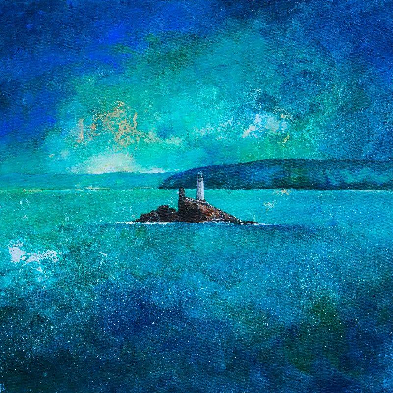 Stormy Godrevy Lighthouse