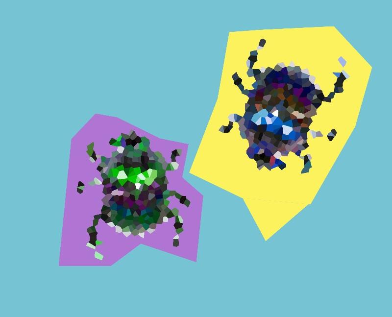 crystallized bugs