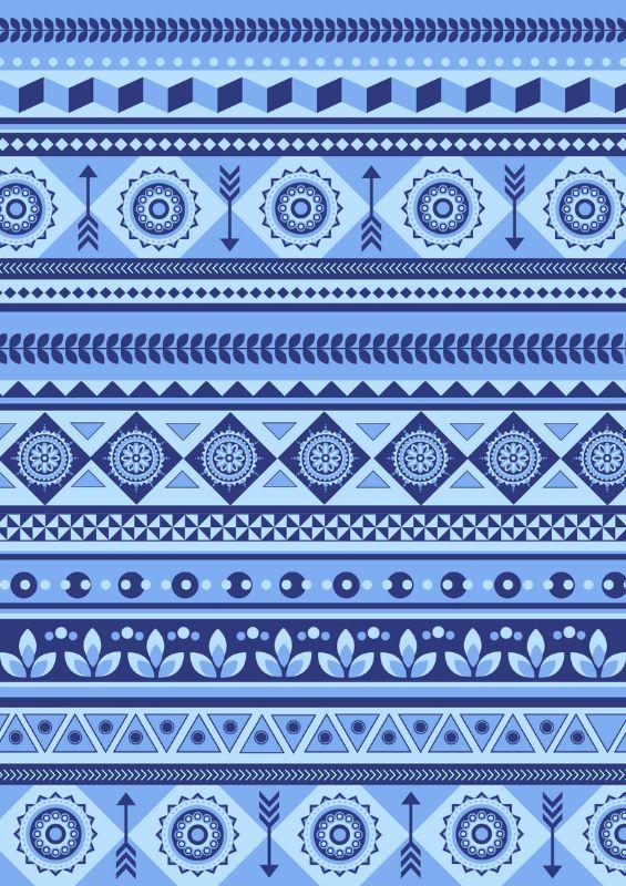 Blue Boho Pattern