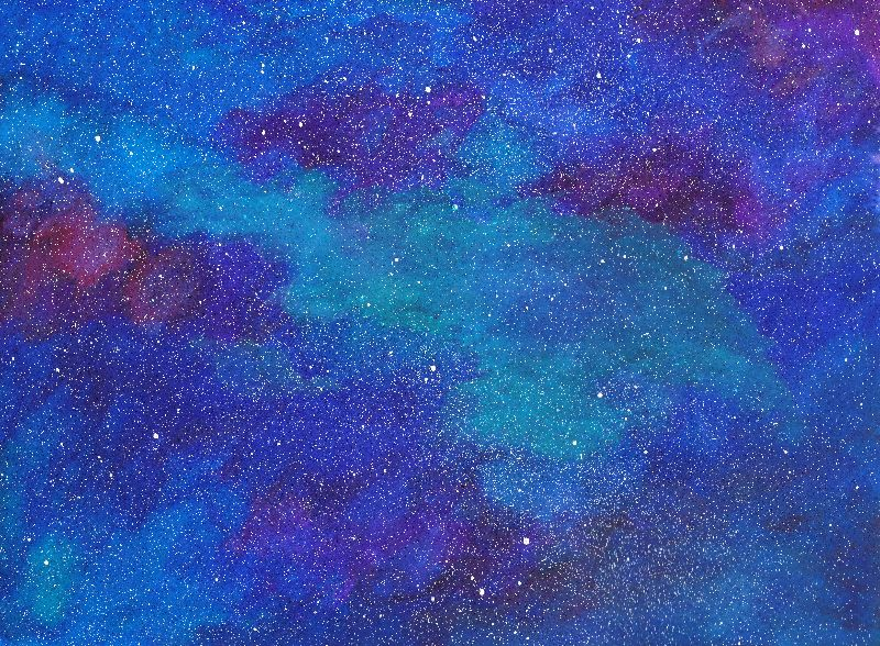 Blue Galaxy Skies