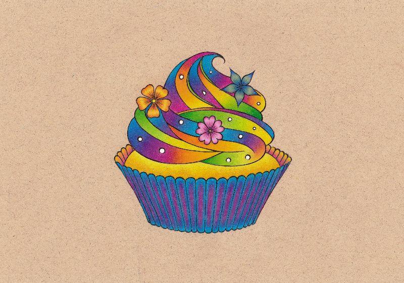 Colourful Cupcake