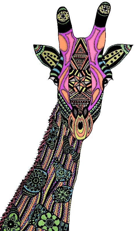 Neon Safari  Giraffe