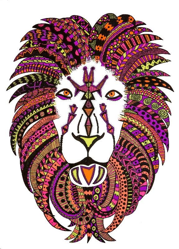 Neon Safari  Lion