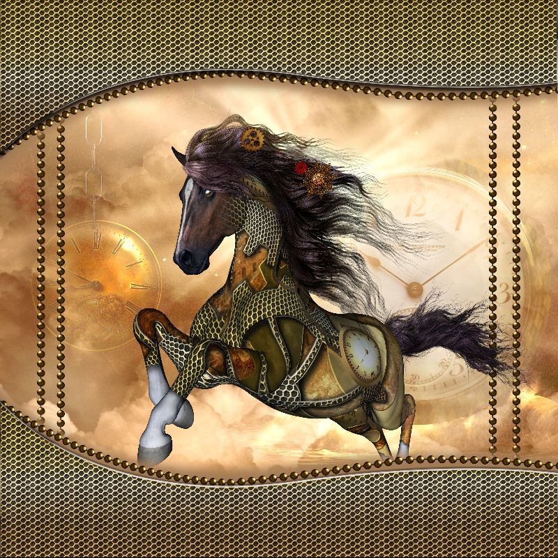 Awesome steampunk horse