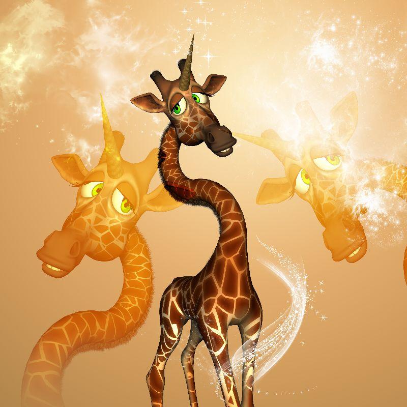 Funny unicorn giraffe