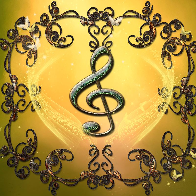 Music decorative clef
