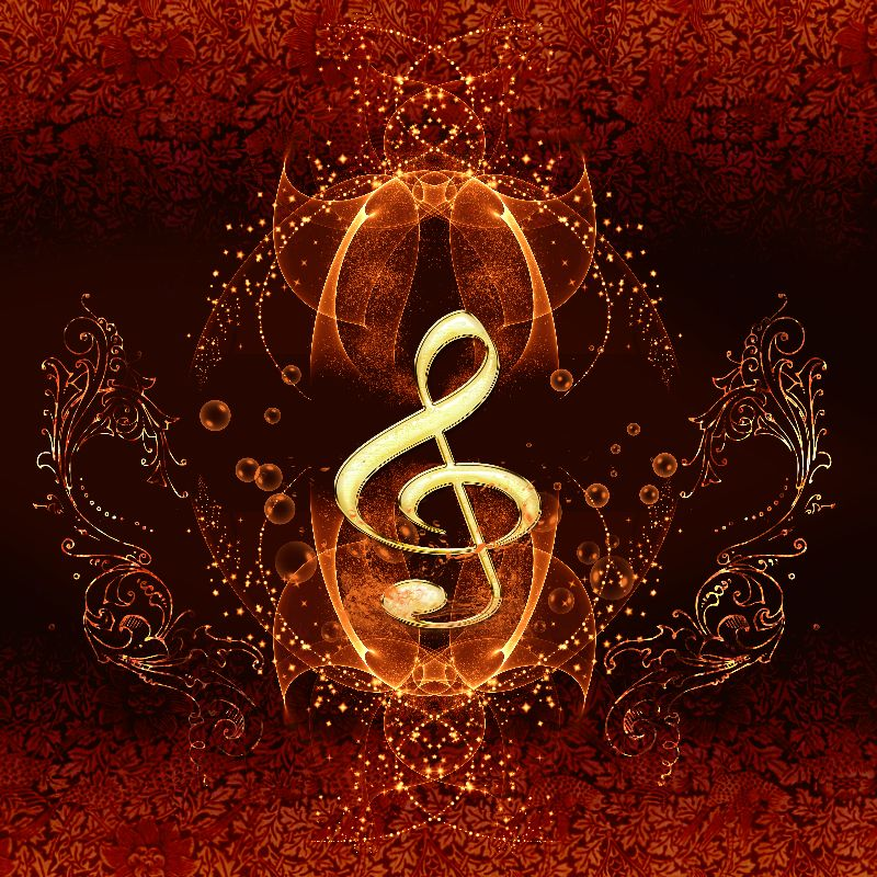 Wonderful decorative clef