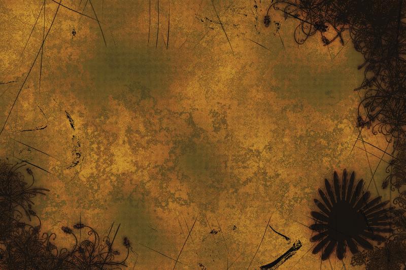 Floral Mist  grunge art