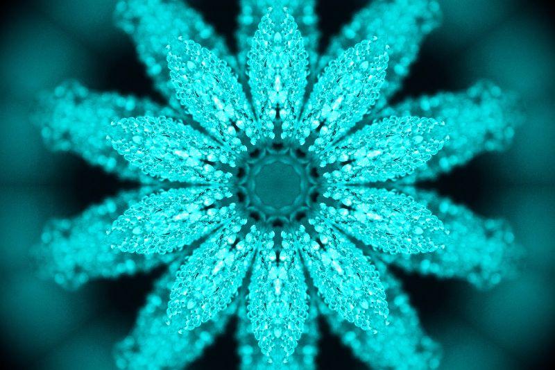 Turquoise Diamond Leaves