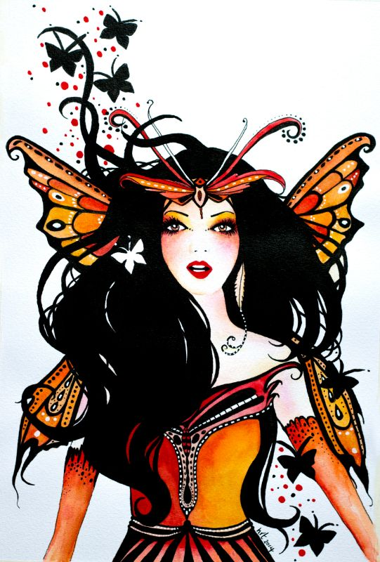 Orange Butterfly Faerie