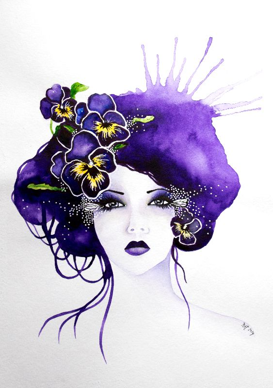 Purple Pansy Faerie