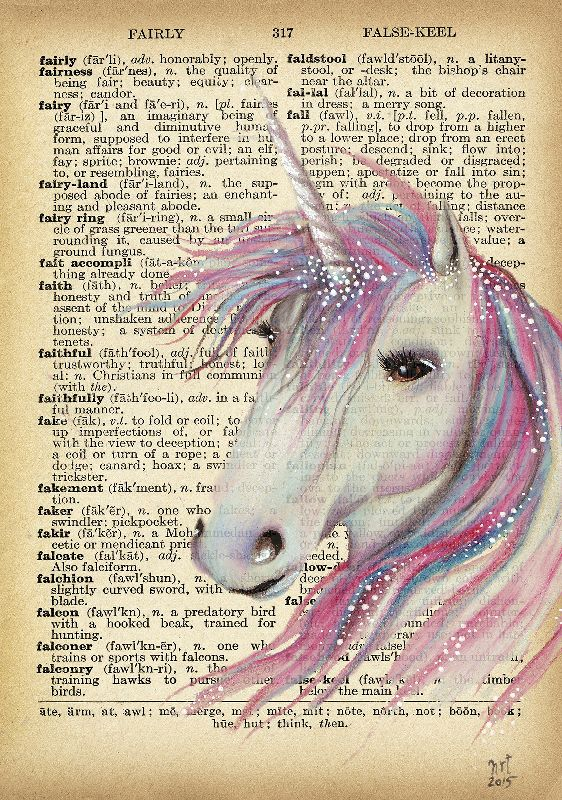 Unicorn Moon Book Art