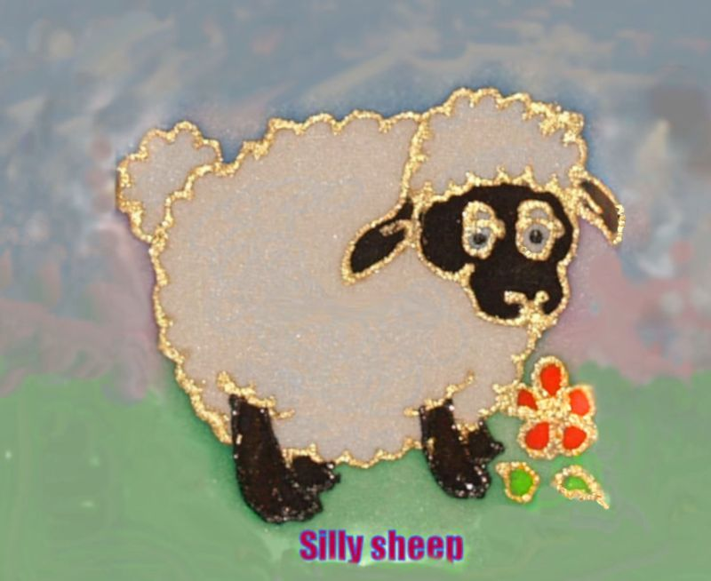 Silly Sheep Cartoon