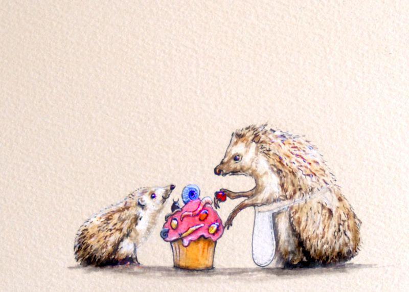baby hedgehogs cake