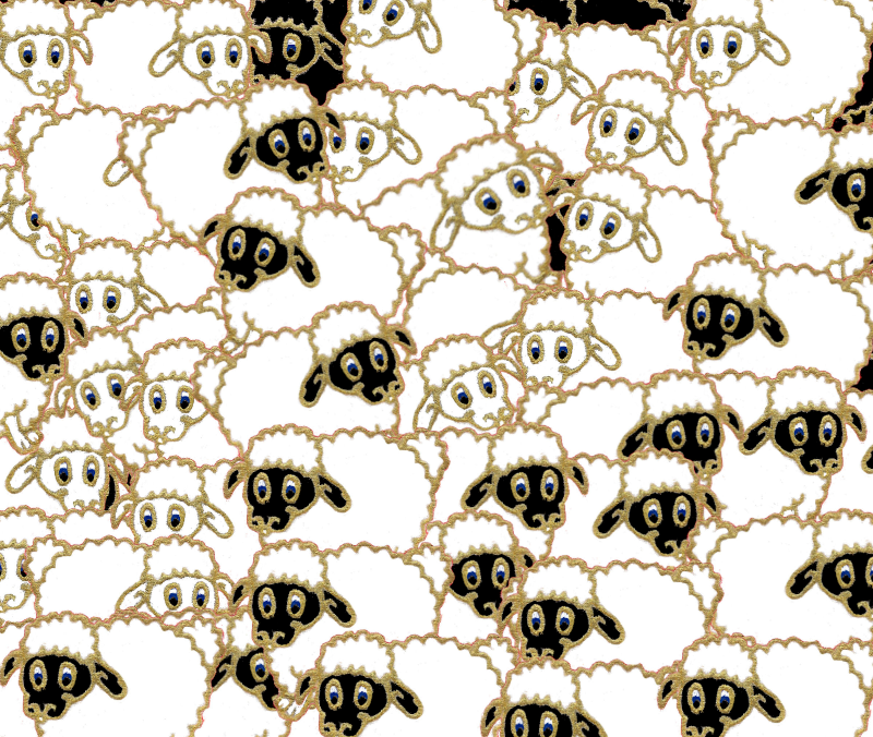 sheep cartoon flock
