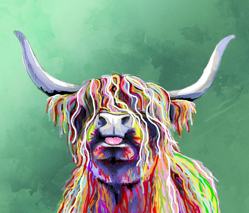 Colourful Highland Cow