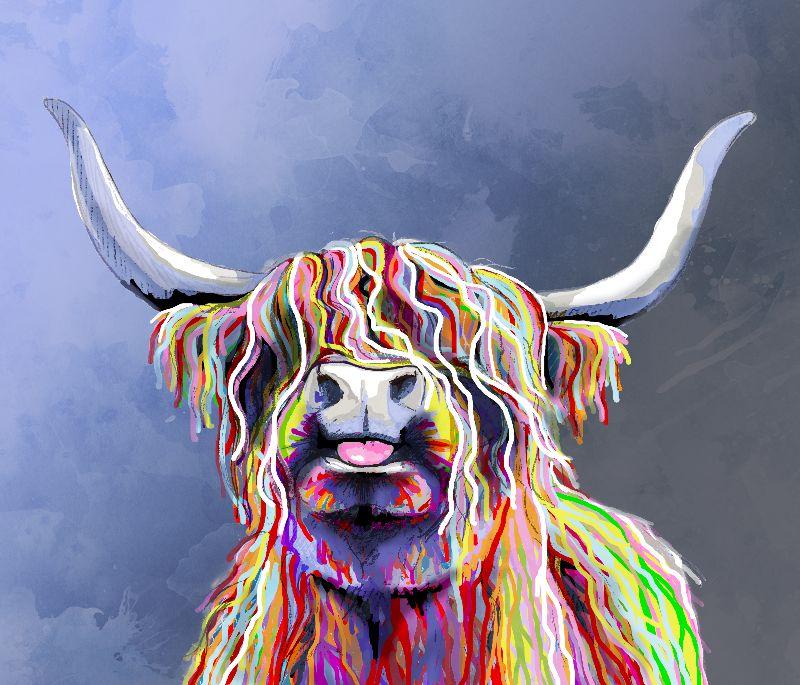 Multicolour Highland Cow