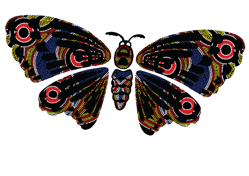 Aboriginal Art Butterfly