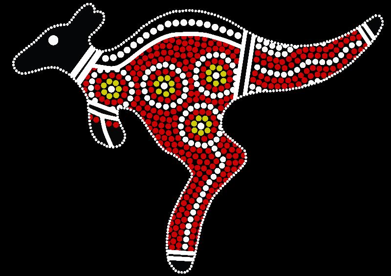 Aboriginal Art Kangaroo