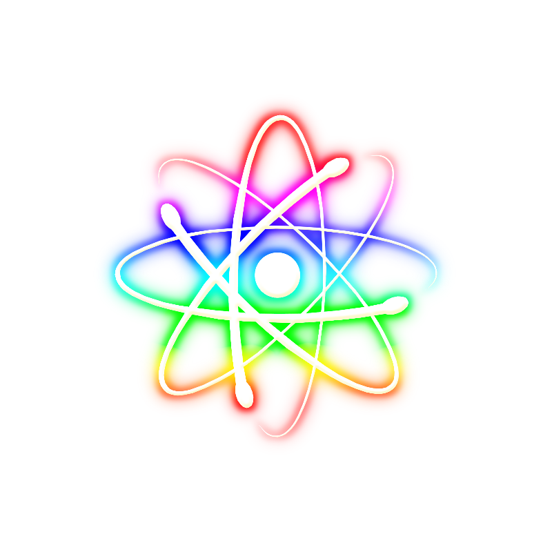 Colorful Glowin Atom Tsh