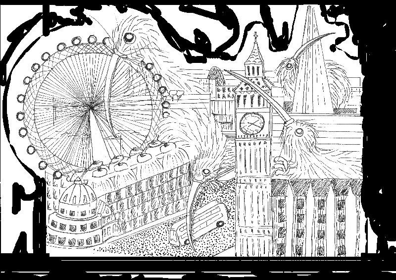 Kiwis in London Big Ben