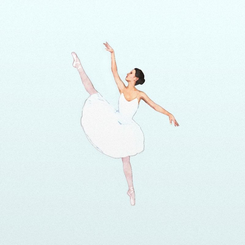 Ballerina in White Dress