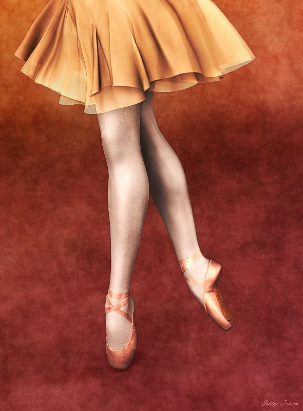 Dancer in Ballet Shoes