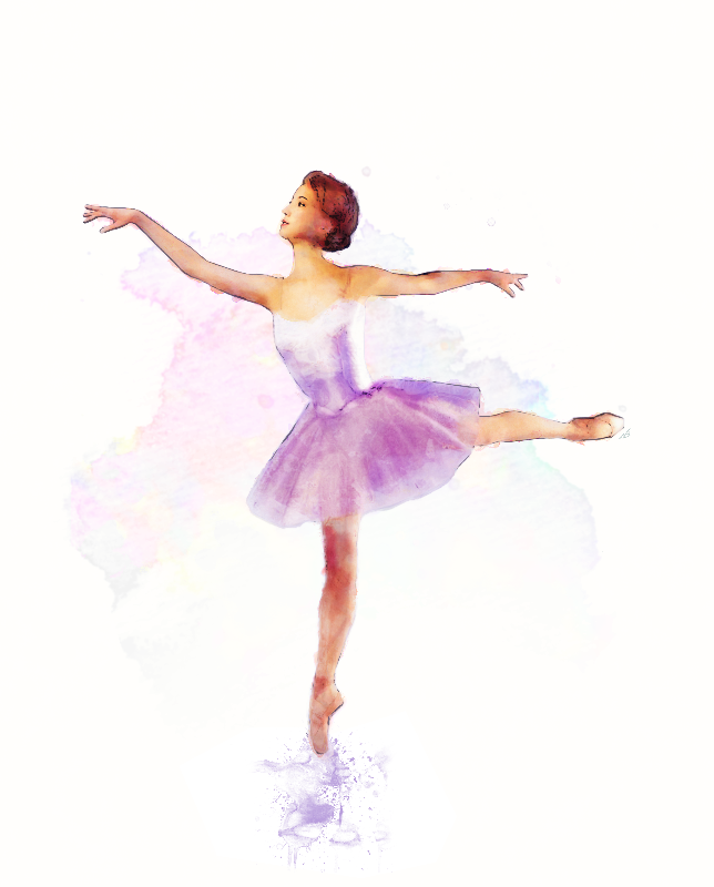 Lilac Ballerina Painting