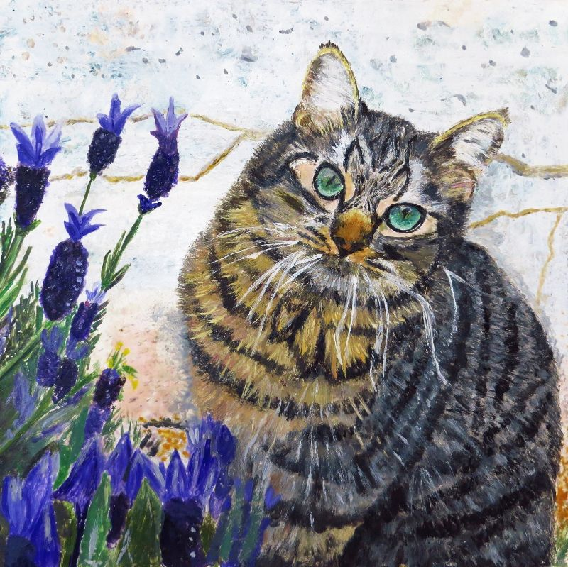 Cat-in-flowers