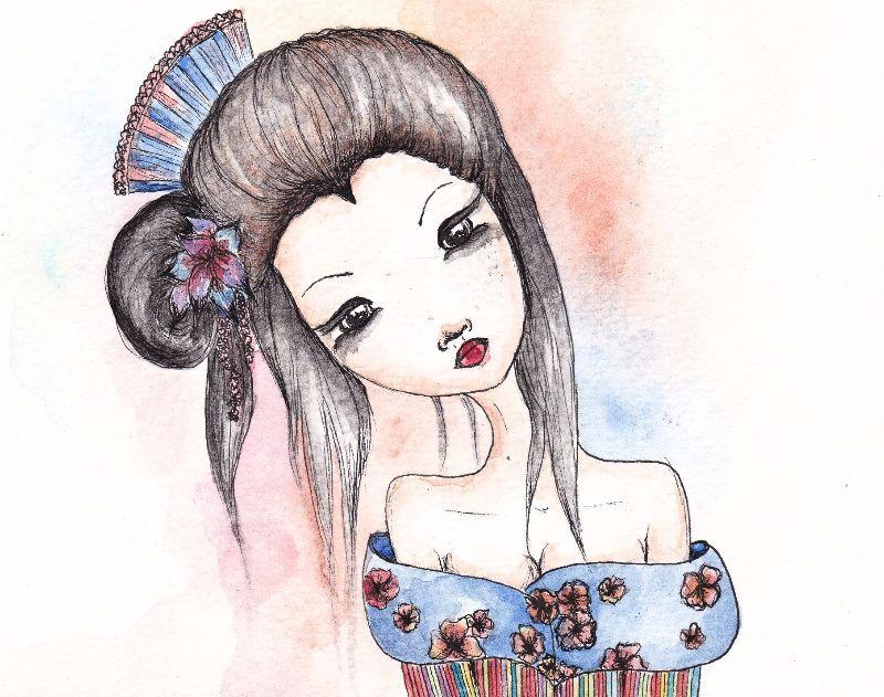 Colourful Geisha Girl