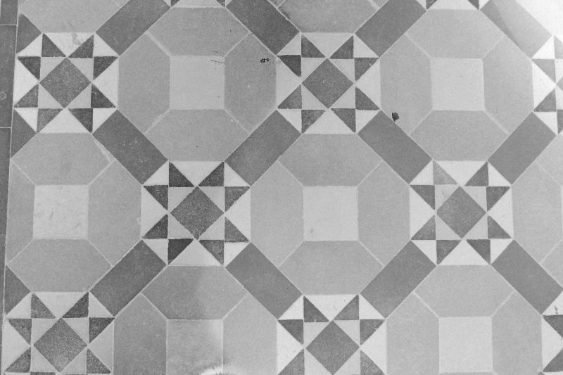 Geometric grey tiles