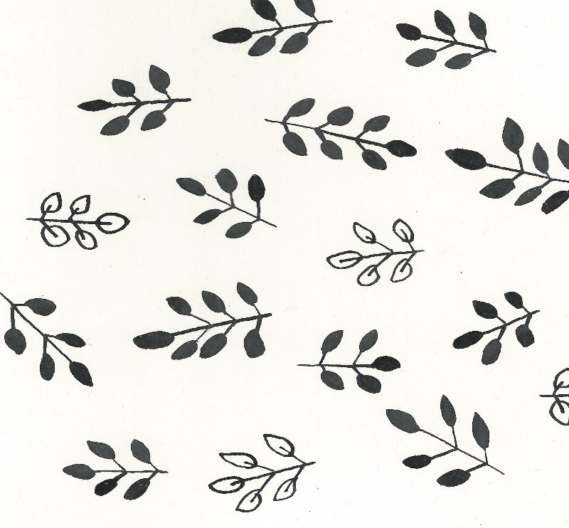 Monochrome leaf pattern