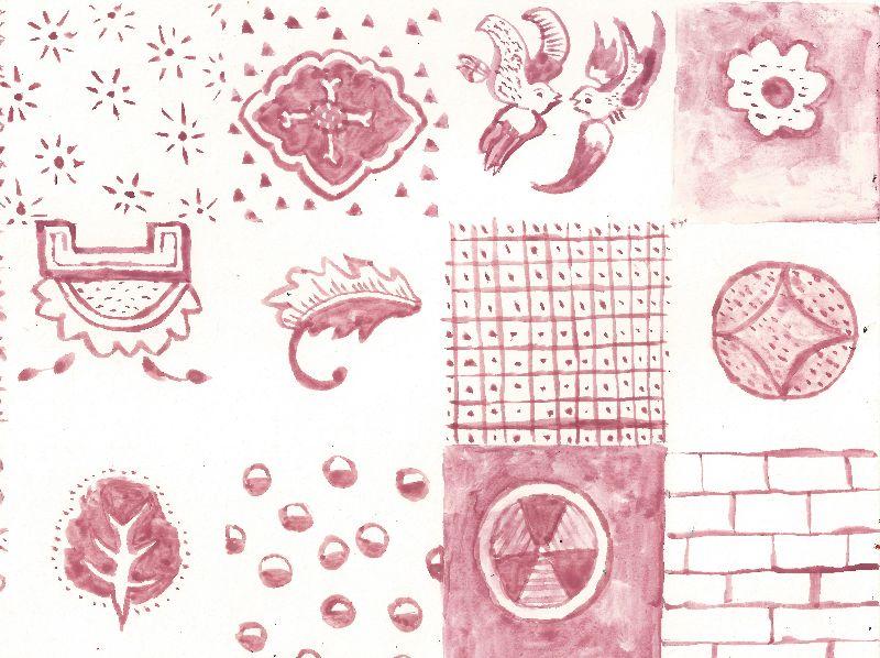 Pink vintage patchwork