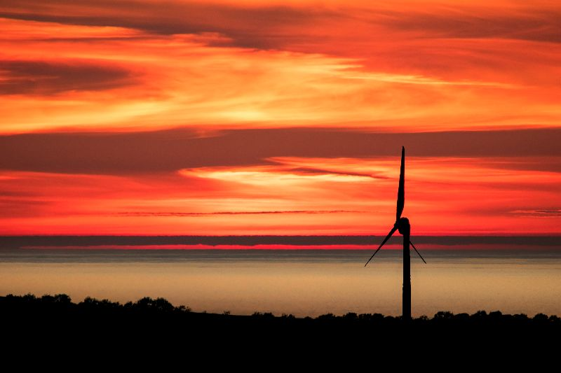 Anglesey Windmill Sunset