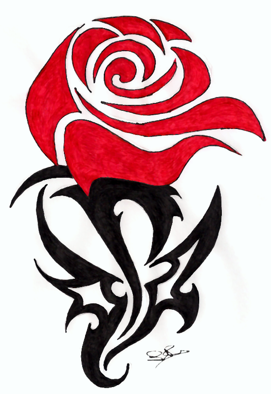 Tribal Rose