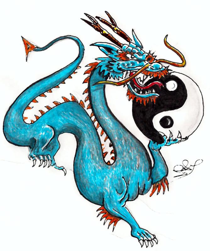 Ying Yang Dragon